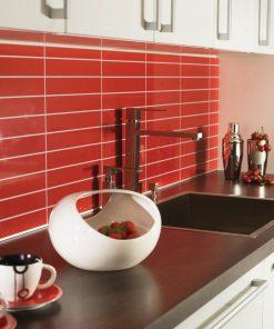 Fibo 2101 K03 KB Højglans Red Tile (30x5cm fliselook)