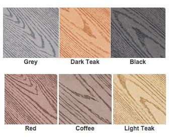 Farver som komposit terrassen findes i