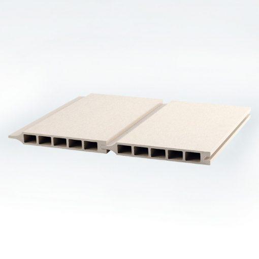 kirkedal-k1 sanded profil komposit hegn hvid