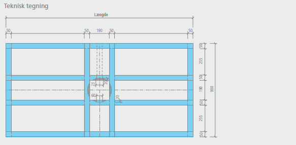 wedi Fundo Primo Easy Set | rektangulært, centralt afløb